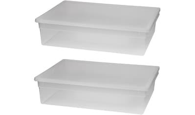 KREHER Aufbewahrungsbox »2x 36 Liter, mit Deckel« 2er Set kaufen