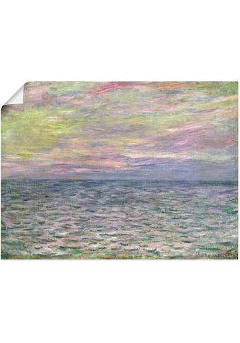 Artland Wandbild »Sonnenuntergang über dem Meer Pourville«, Sonnenaufgang &... kaufen