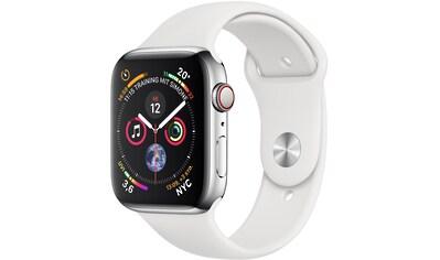 Apple Series 4 GPS + Cellular, Edelstahlgehäuse mit Sportarmband 40mm Watch (Watch OS 5) kaufen