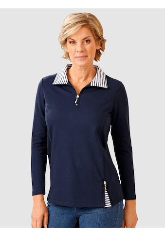 Paola Sweatshirt Mit gestreiften Einsätzen kaufen