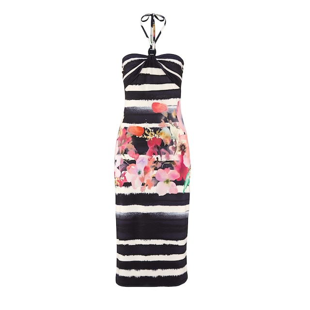 Alba Moda Kleid in Bandeau-Form