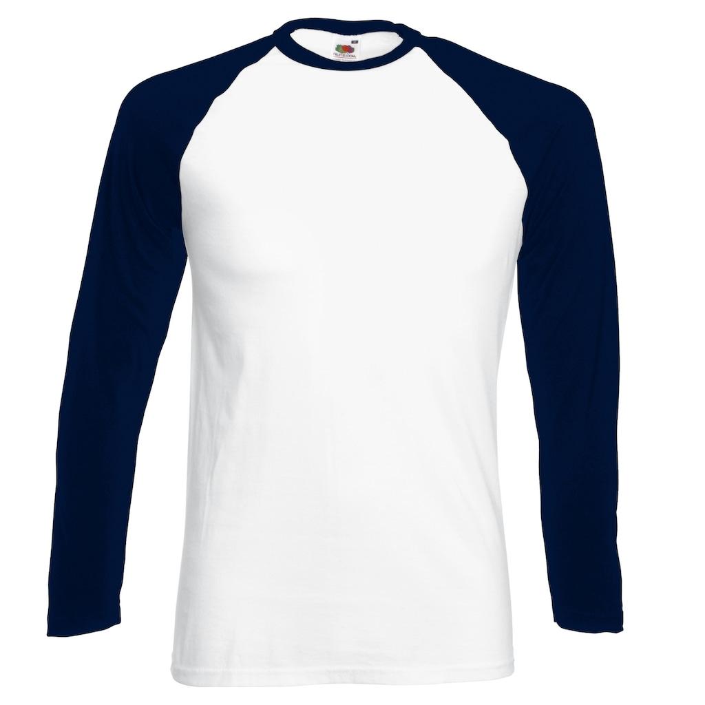 Fruit of the Loom Longsleeve »Herren Baseball T-Shirt, langärmlig«