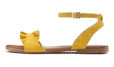 LASCANA Sandale, aus hochwertigem Leder mit kleinen Rüschen kaufen