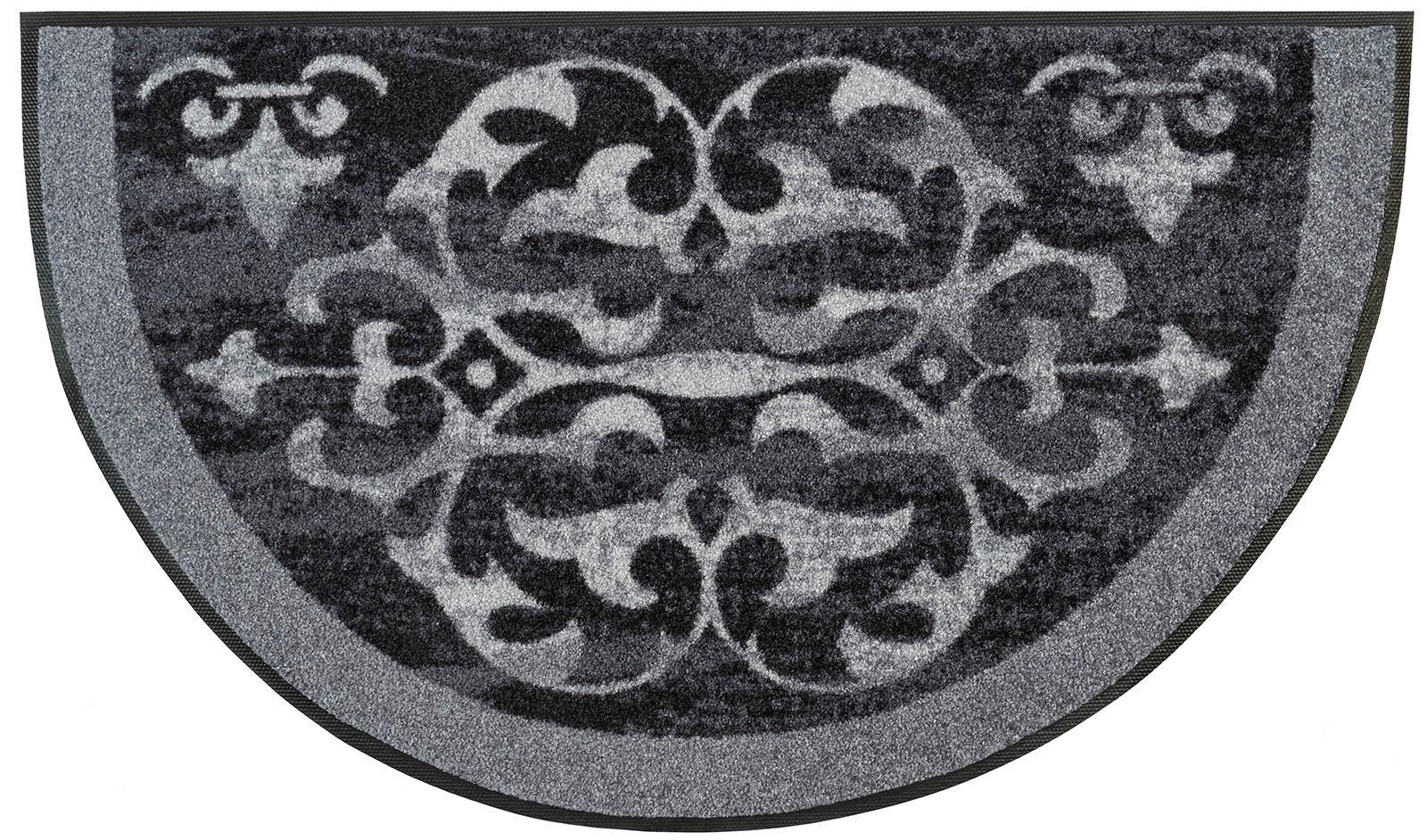 Teppich Round Ornaments wash+dry by Kleen-Tex rechteckig Höhe 7 mm gedruckt