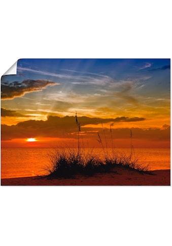 Artland Wandbild »Herrlicher Sonnenuntergang«, Sonnenaufgang & -untergang, (1 St.), in... kaufen