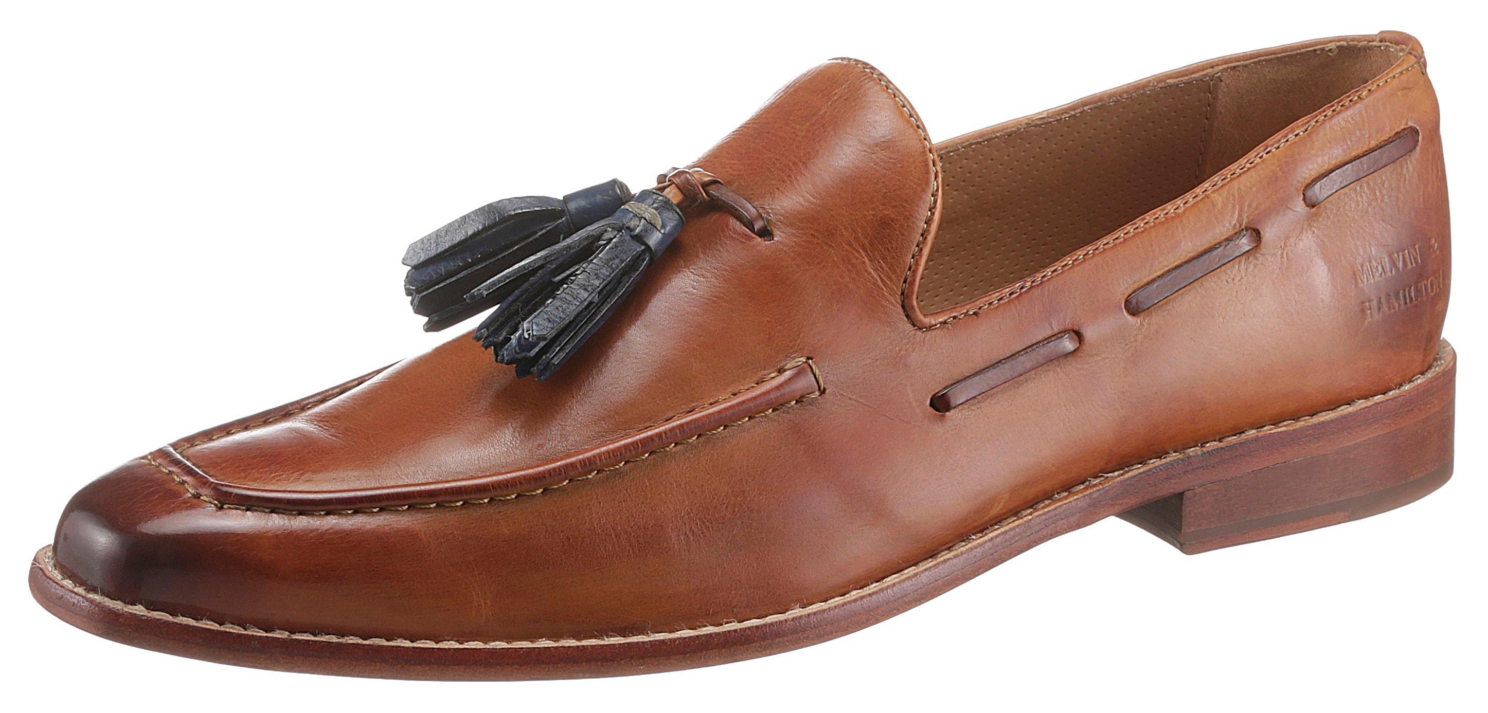 melvin & hamilton -  Slipper Tassel Loafer Leonardo vegetabil gegerbt, handgemacht mit Lederlaufsohle