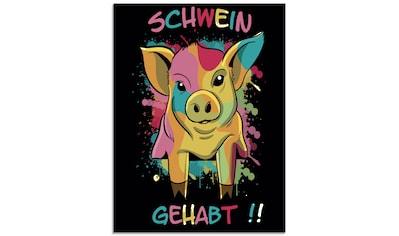 Artland Glasbild »Schwein Gehabt«, Humor, (1 St.) kaufen