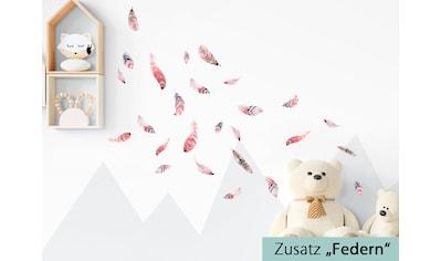 little DECO Wandtattoo »Little Deco Wandtattoo Waldtiere mit Sternen & Federn« kaufen
