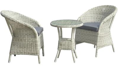 GARDEN PLEASURE Gartenmöbelset »VALGA«, 5 - tlg., 2 Sessel, Tisch, Polyrattan kaufen