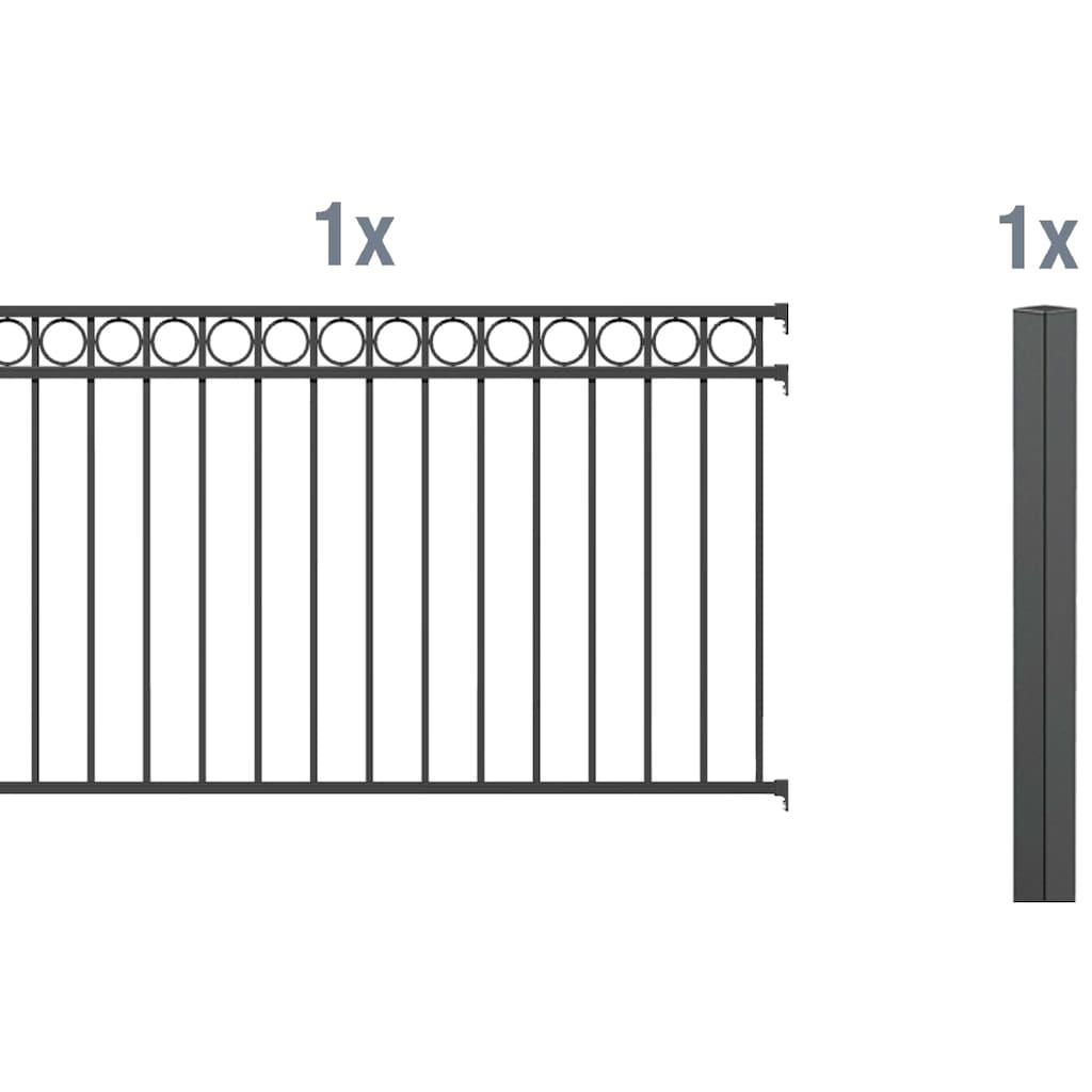 GAH Alberts Metallzaun »Circle«, Anbauset 120x200 cm, 1 Pfosten zum Einbetonieren