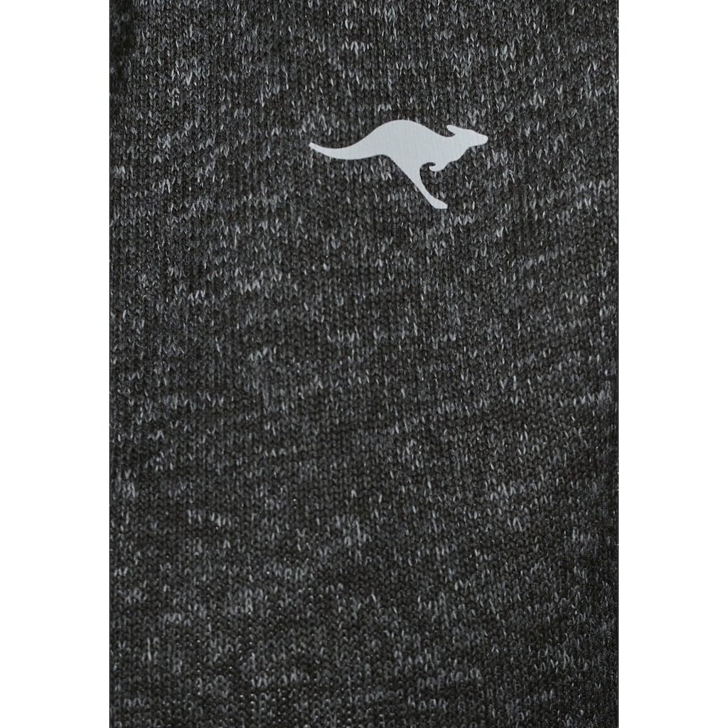 KangaROOS Strickfleecejacke, mit Reißverschluss in Kontrastfarbe