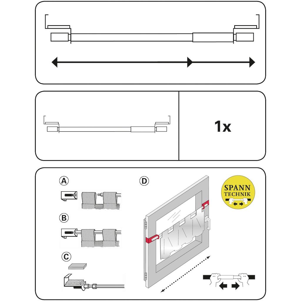 GARDINIA Spannvitrage, 1 läufig-läufig, ausziehbar, Serie Spannvitrage Ø 9 mm