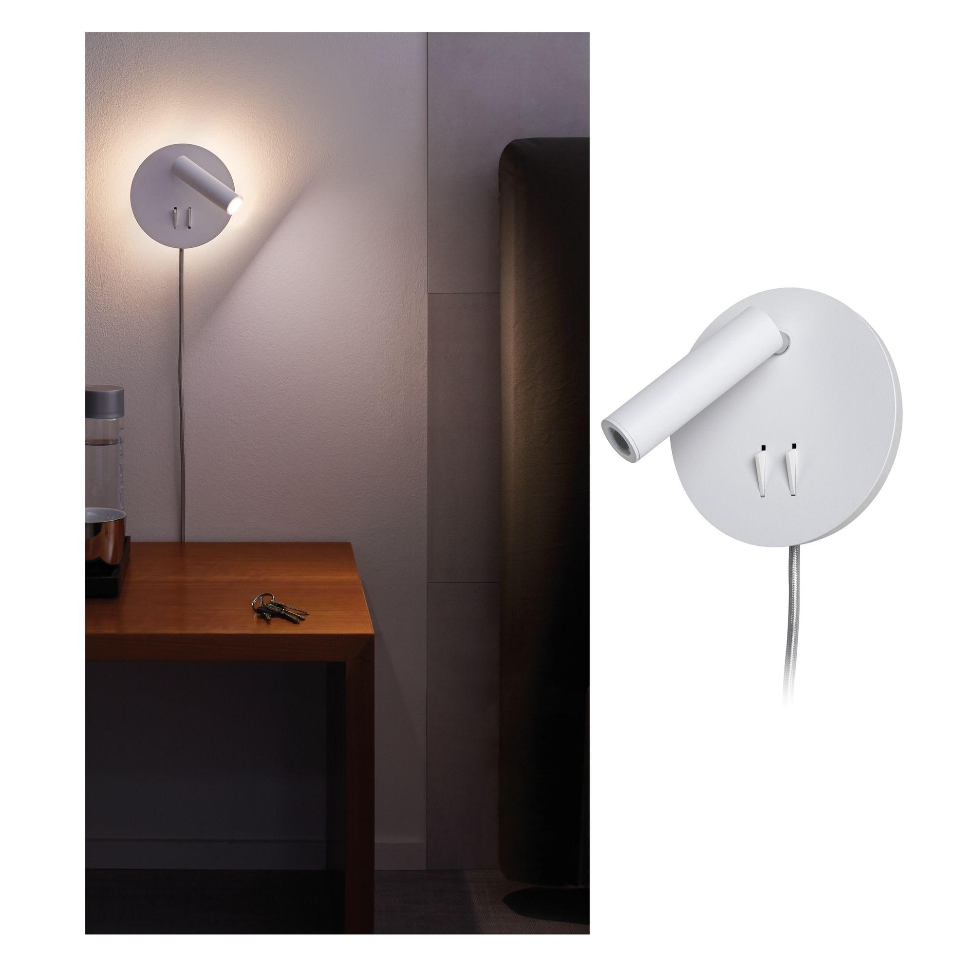 Paulmann LED Wandleuchte Tabari 4W Weiß/Chrom, 1 St., Warmweiß