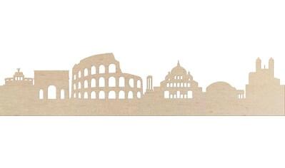 Wanddekoobjekt »Pappel Furnier  -  Skyline Rom« kaufen