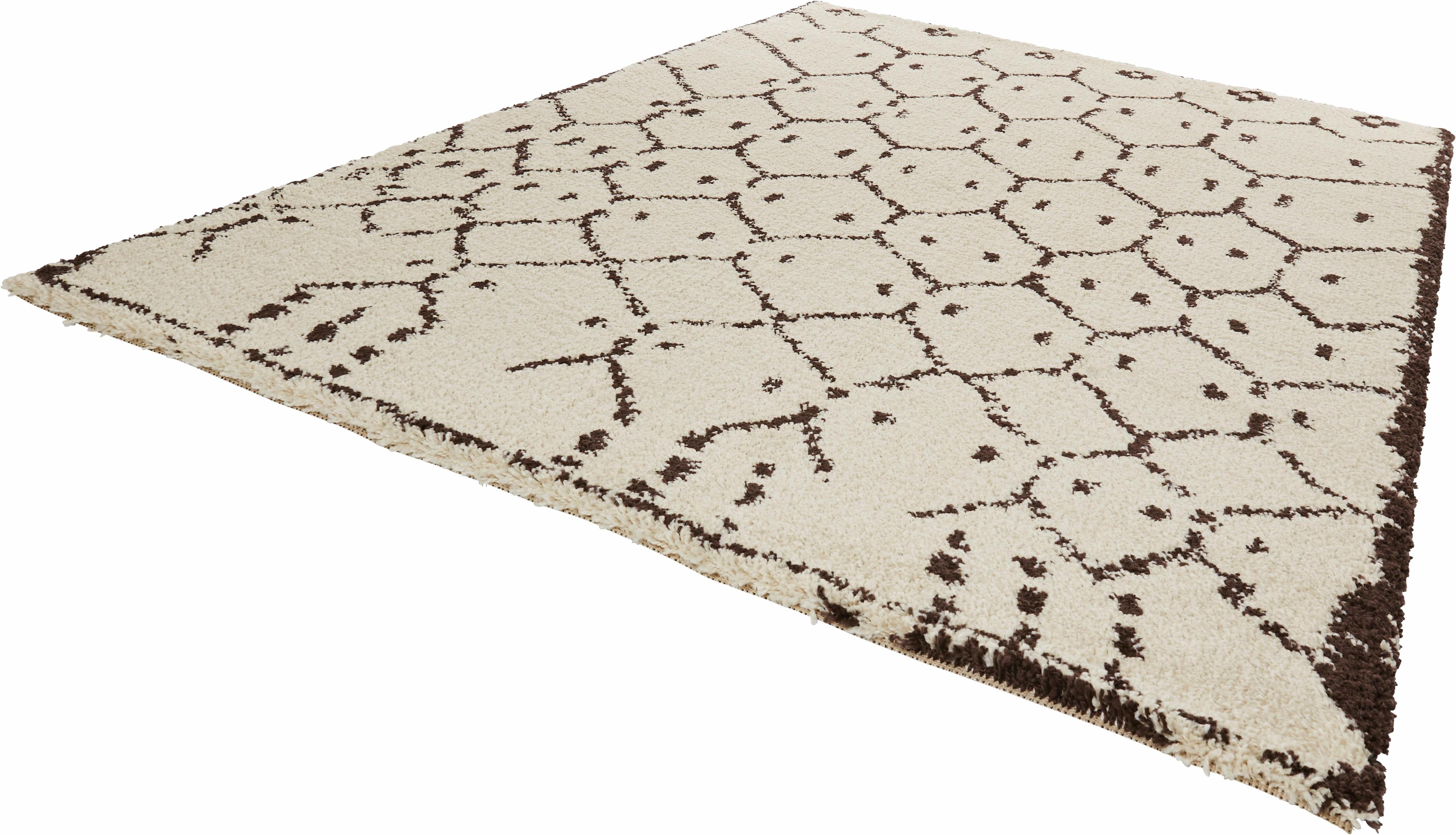 Hochflor-Teppich Frame MINT RUGS rechteckig Höhe 35 mm
