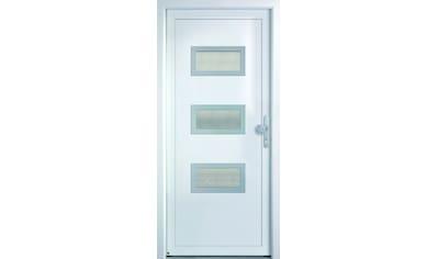 KM MEETH ZAUN GMBH Mehrzweck - Haustür »K368D«, nach Wunschmaß, rechts oder links, mit Griffgarnitur kaufen