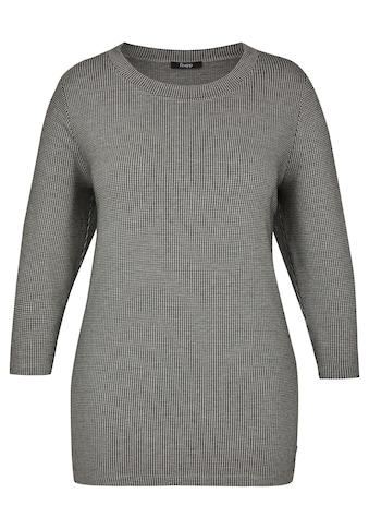 FRAPP Modernes Hahnentritt - Shirt mit Galonstreifen Plus Size kaufen