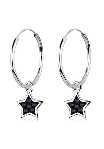 Elli Paar Creolen »Creolen Stern Kristalle 925 Silber« kaufen