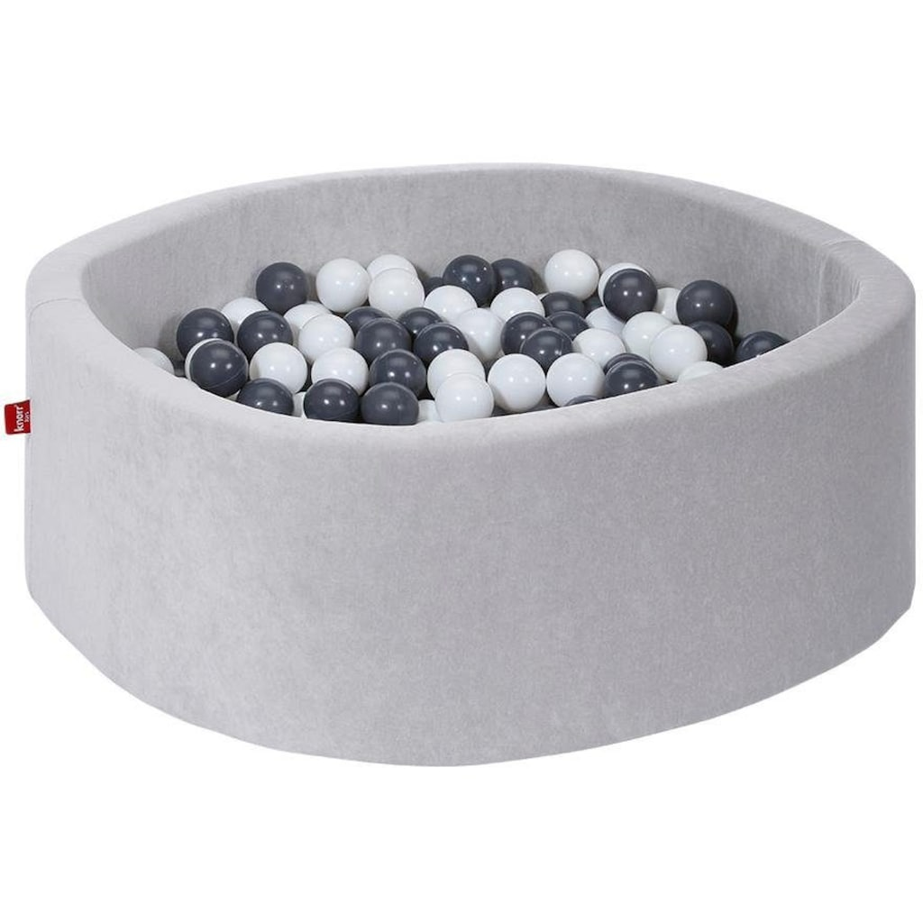Knorrtoys® Bällebad »Grey«, mit 300 Bällen grey/creme; Made in Europe