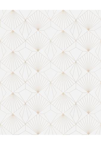 Superfresco Easy Vliestapete »Diamond«, geometrisch, Weiß - 10m x 52cm kaufen