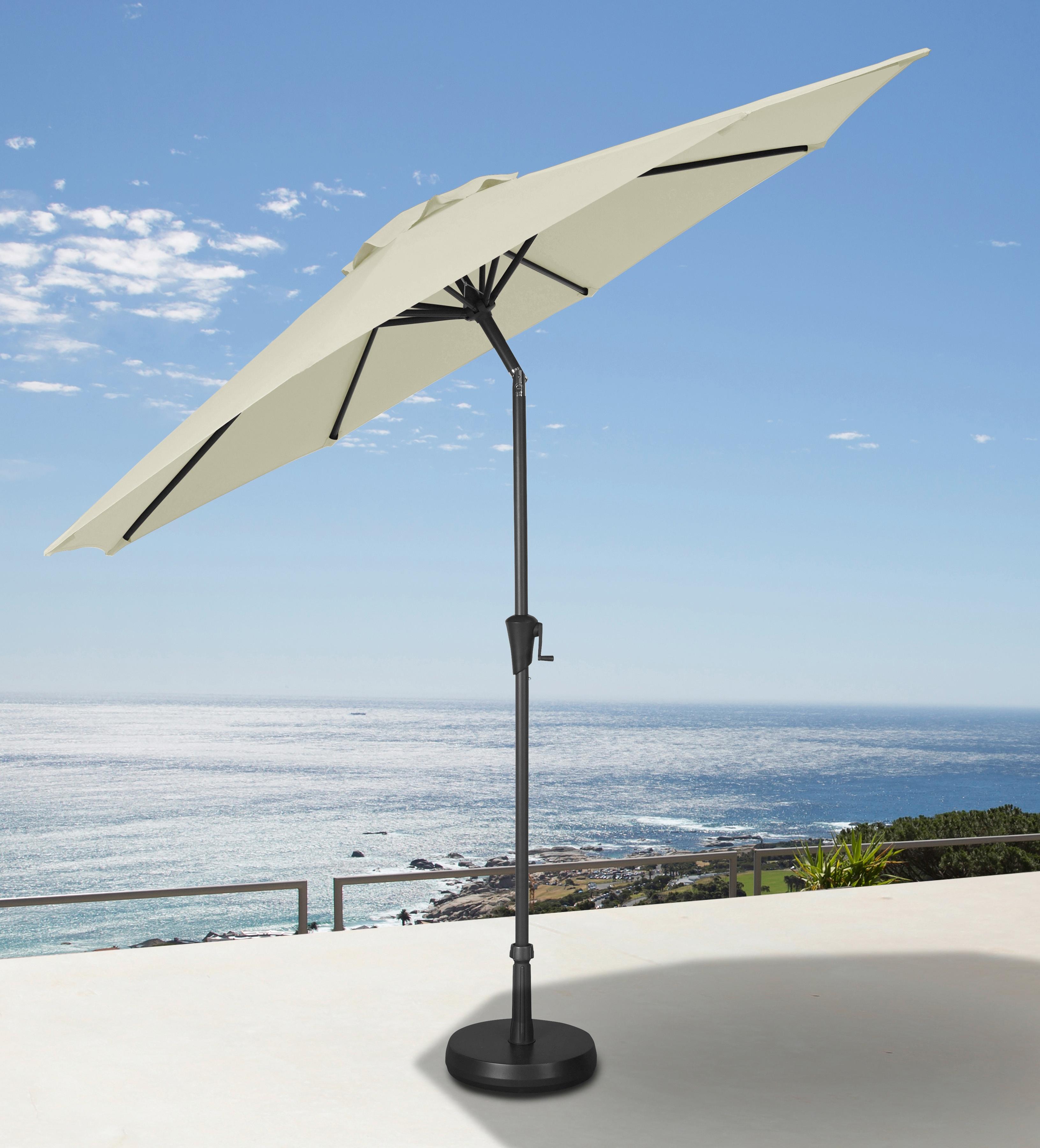 garten gut Ampelschirm, abknickbar, ohne Schirmständer beige Sonnenschirme -segel Gartenmöbel Gartendeko Ampelschirm