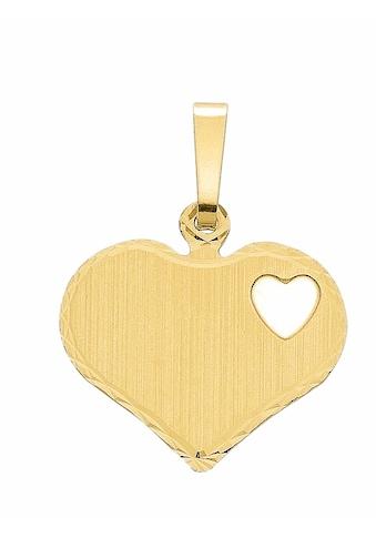 Adelia´s Kettenanhänger »333 Gold Gravurplatte Anhänger« kaufen