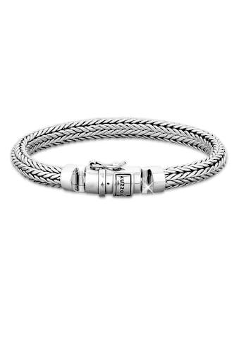 Kuzzoi Armband »Herren oxidiert Kastenverschluss 925 Silber« kaufen