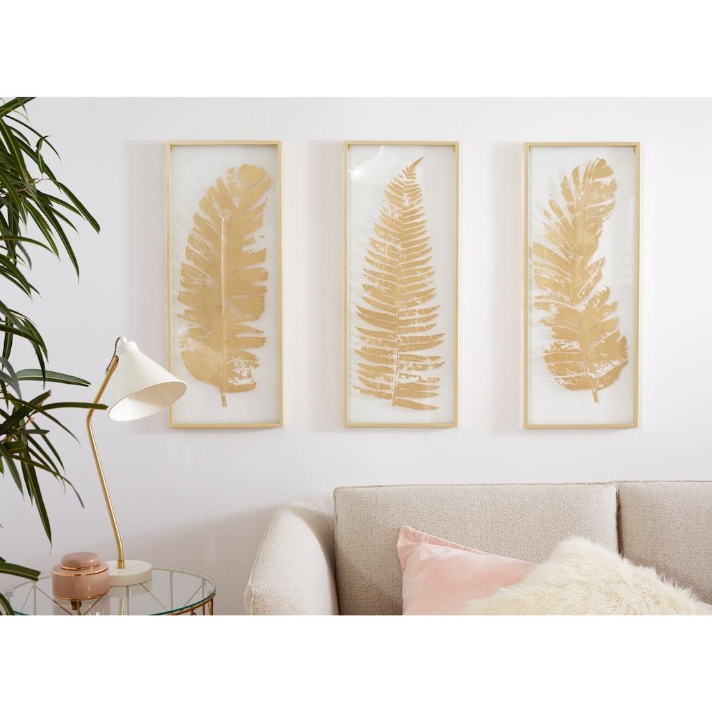 Home affaire Wanddekoobjekt, Wanddekoo, Wanddekoration, mit schönen Blatt-Motiven