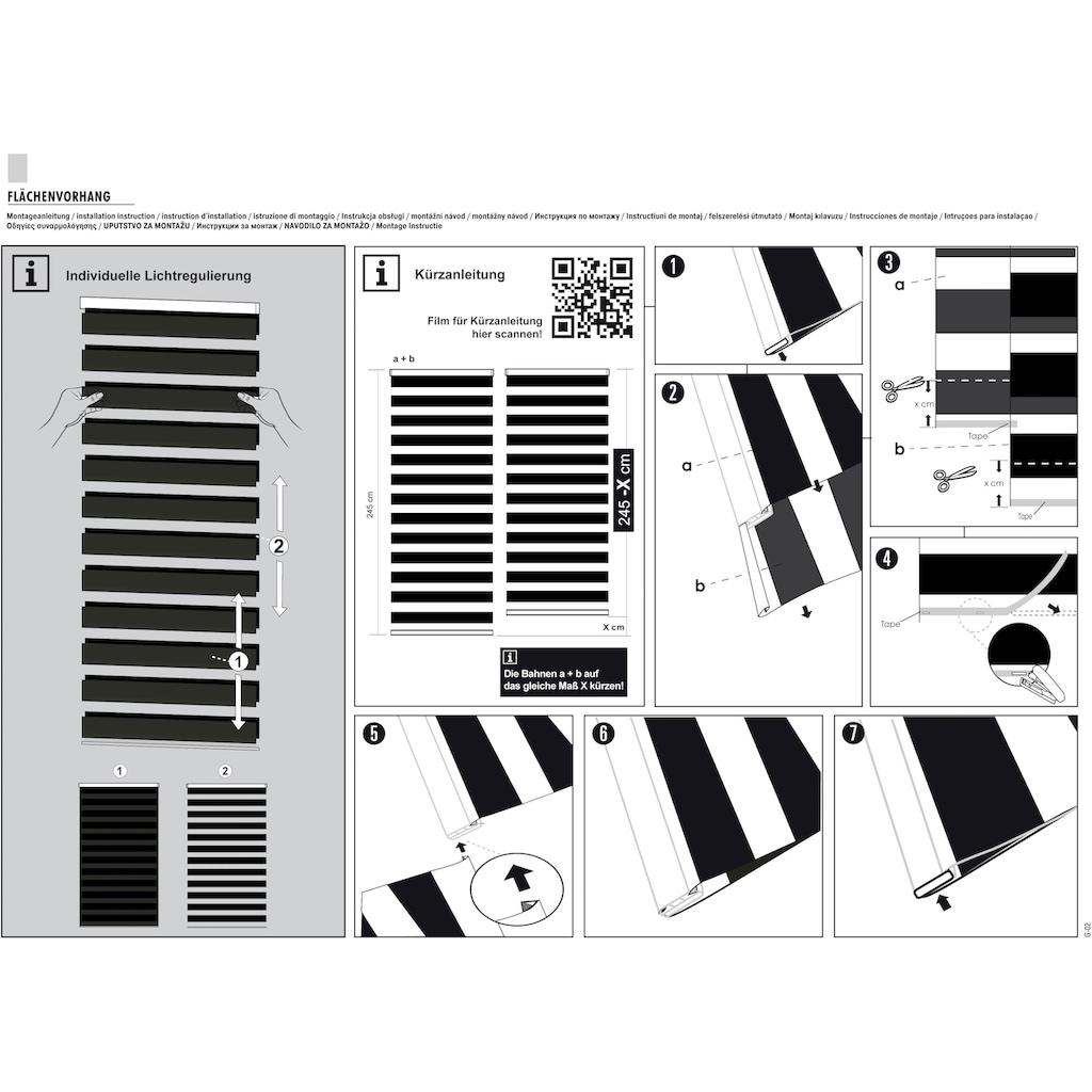 GARDINIA Schiebegardine »Flächenvorhang Day+Night«, HxB: 245x60, Doppelrollo-Optik, Innovative + patentierte Technik