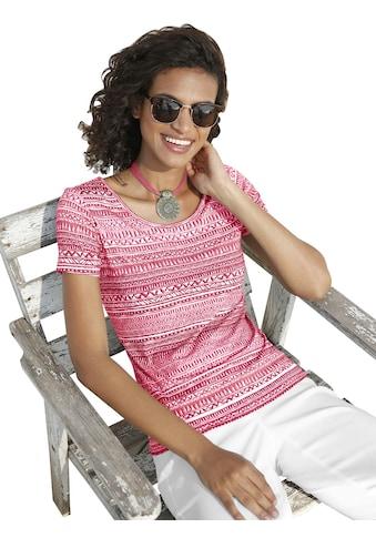 Casual Looks Shirt im schönen Ethnomuster kaufen