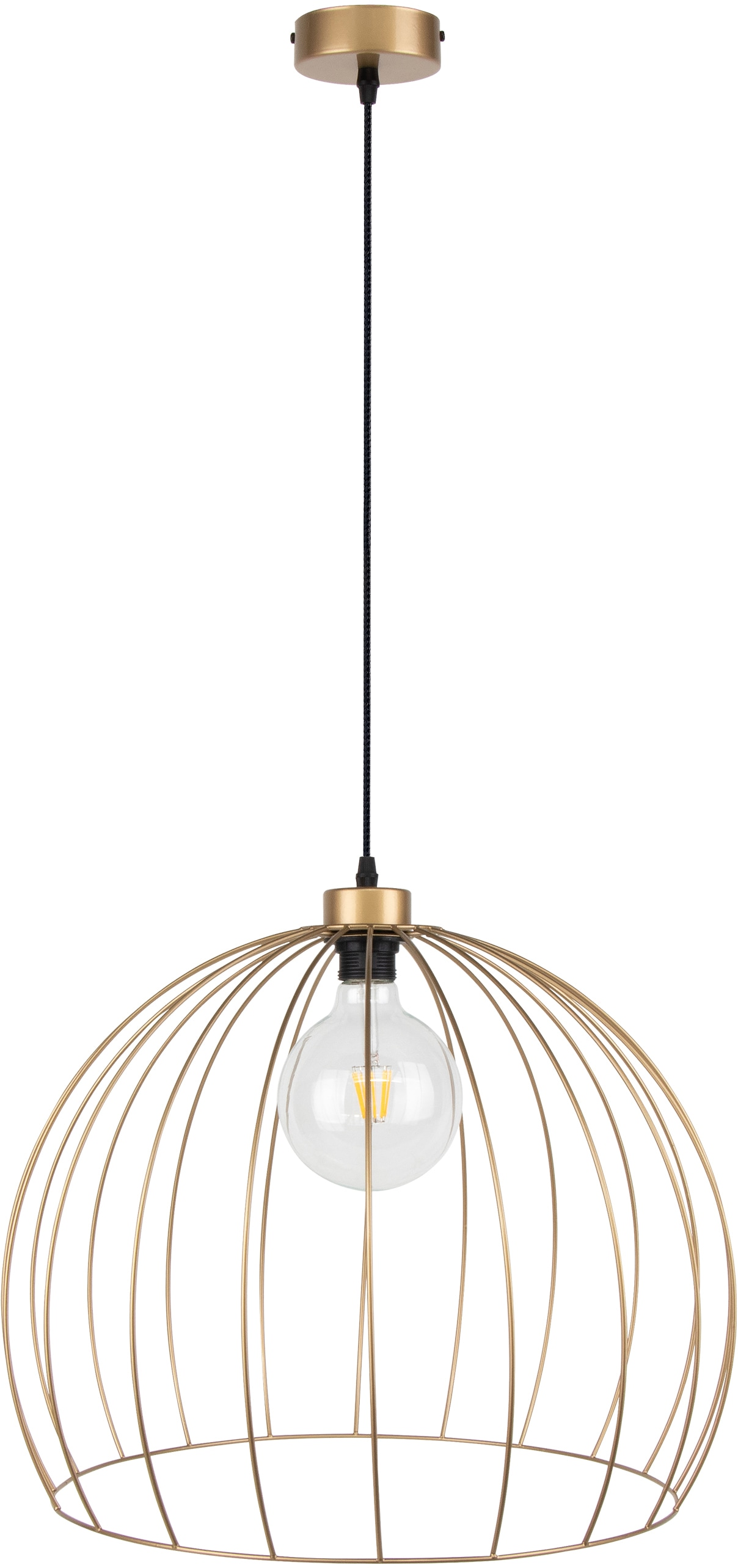 BRITOP LIGHTING Hängeleuchte Coop, E27, 1 St., Dekorative Leuchte aus Metall, passende LM E27 / exklusive, Made in Europe