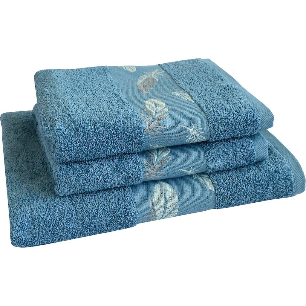 Dyckhoff Handtuch Set »Feder«, mit schöner Bordüre und Feder Motiven