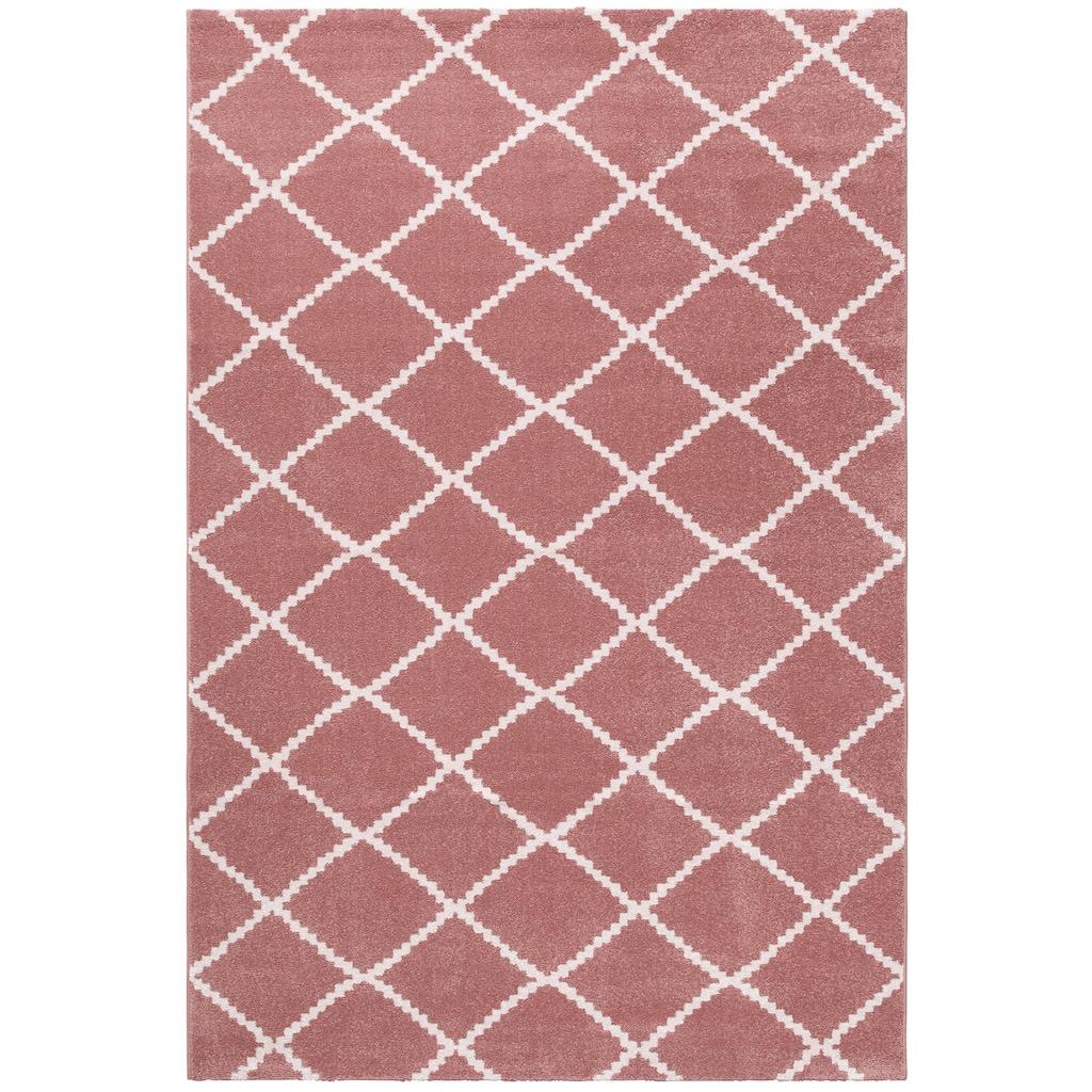 Guido Maria Kretschmer Home&Living Teppich »Paris«, rechteckig, 13 mm Höhe, gewebt, Rauten Design, Wohnzimmer