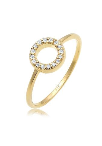 Diamore Verlobungsring »Kreis Geo Diamant Verlobung 0.08 ct. 375 Gelbgold« kaufen