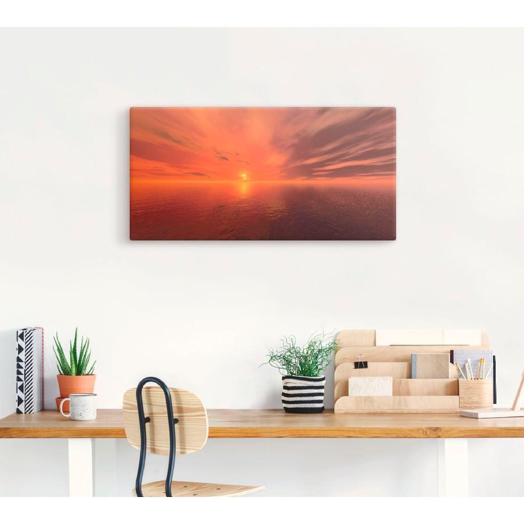 Artland Wandbild »Sonnenuntergang I«, Sonnenaufgang & -untergang, (1 St.), in vielen Größen & Produktarten -Leinwandbild, Poster, Wandaufkleber / Wandtattoo auch für Badezimmer geeignet