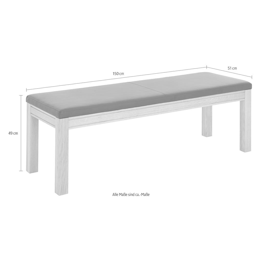 Premium collection by Home affaire Polsterbank »Madison«, Breite 130 oder 150 cm