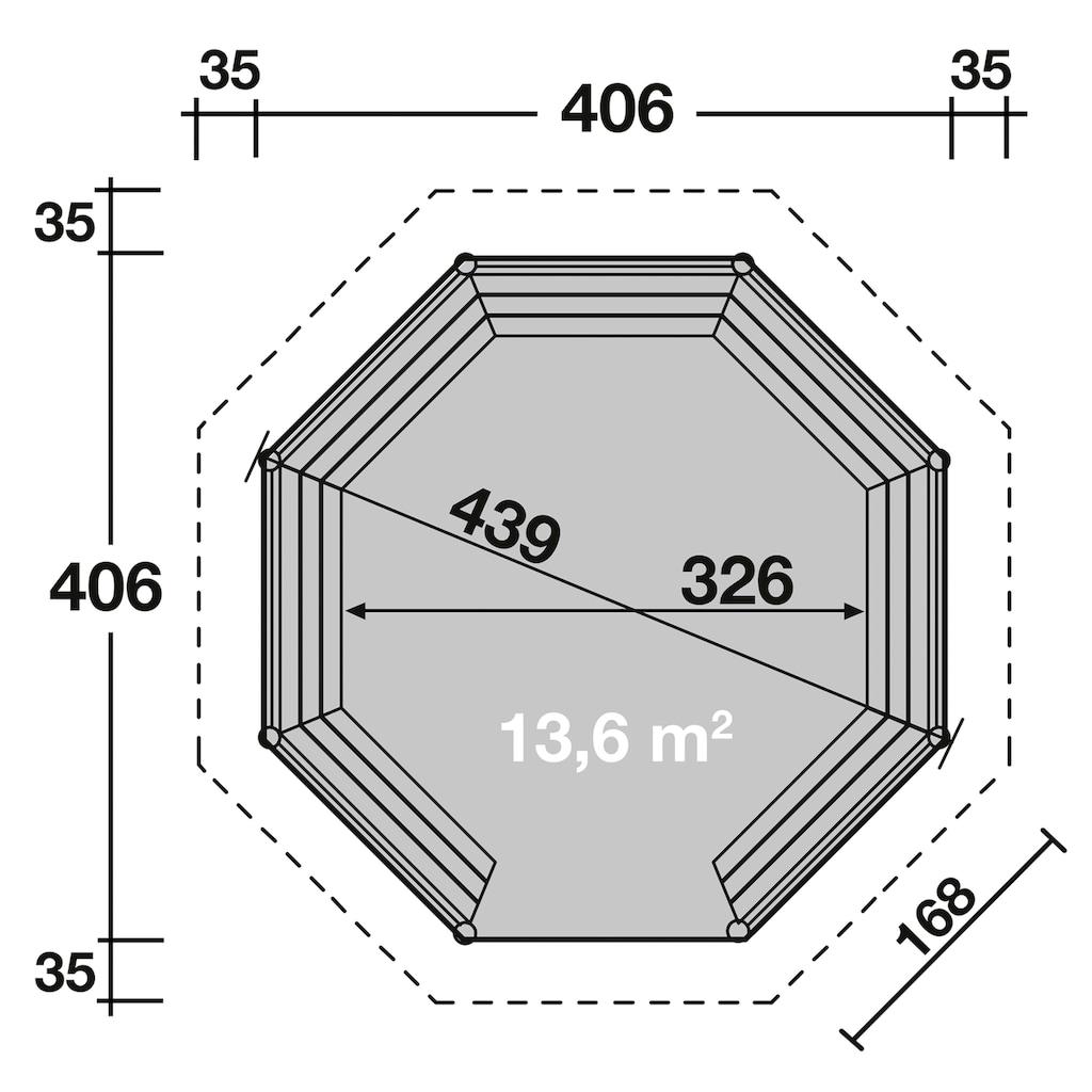 Wolff Holzpavillon »Kreta 8 XL«, BxT: 476x476 cm