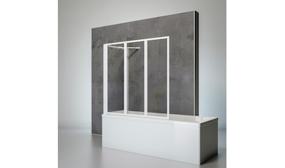 SCHULTE Komplett - Set: Badewannenfaltwand »Komfort«, 3 - teilig, zum Kleben oder Bohren kaufen