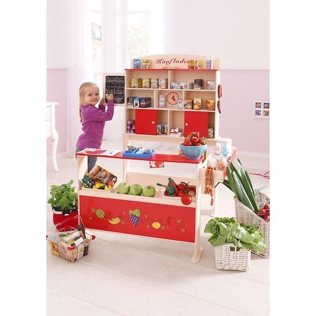 Sun, Kaufladen aus Holz mit Kreidetafel