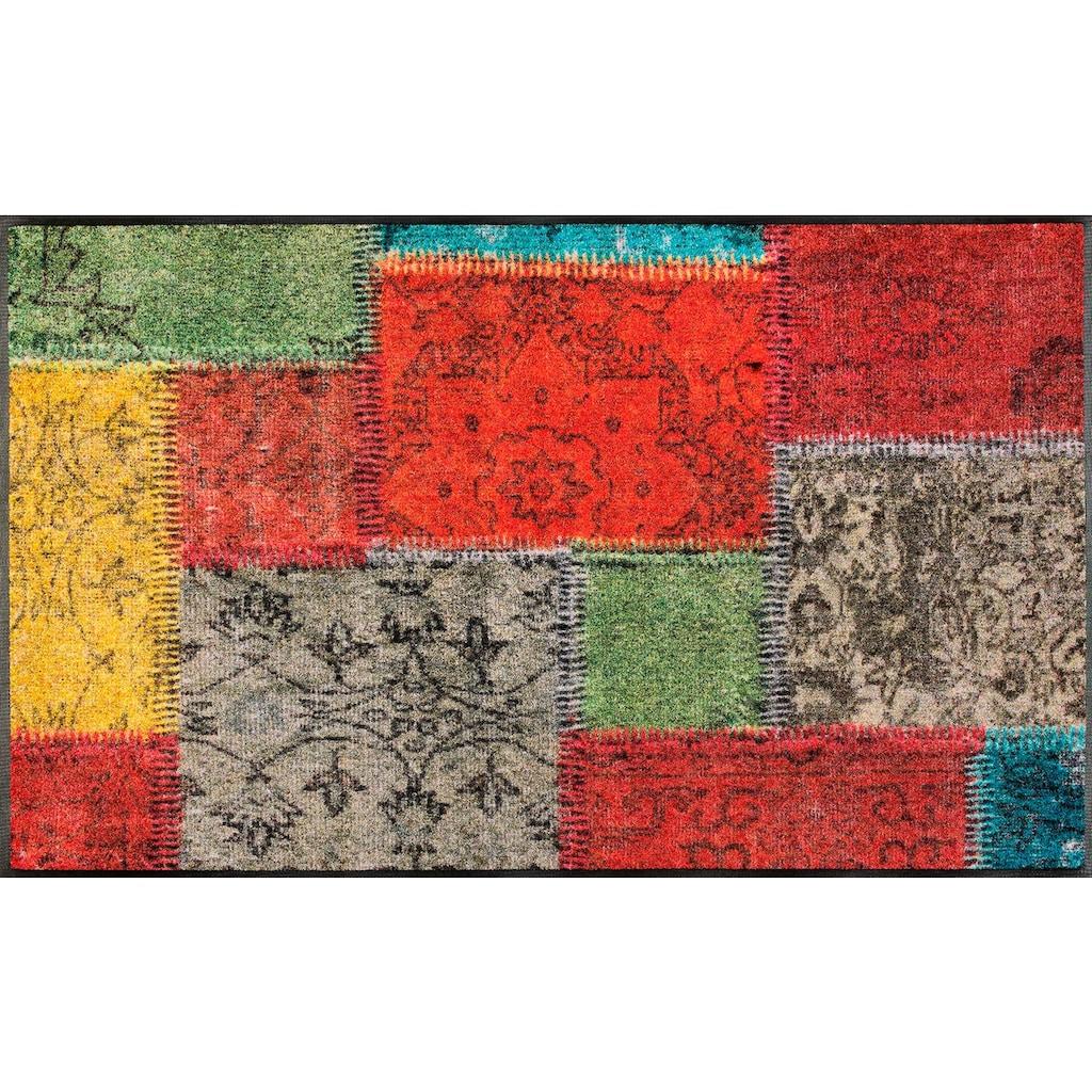wash+dry by Kleen-Tex Läufer »Vintage Patches«, rechteckig, 7 mm Höhe