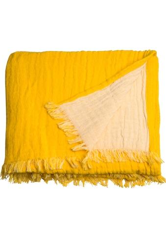 TOM TAILOR Plaid »Fringed Cotton«, mit Fransen kaufen