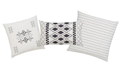 Home affaire Kissenhüllen »Inka«, (3, 1x 40x40cm-1x 50x50cm-1x 30x50cm), mit feinen Mustern kaufen