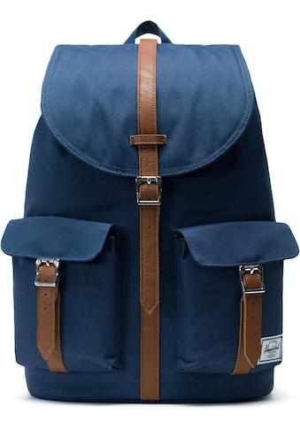 Herschel Laptoprucksack »Dawson, Navy/Tan« kaufen