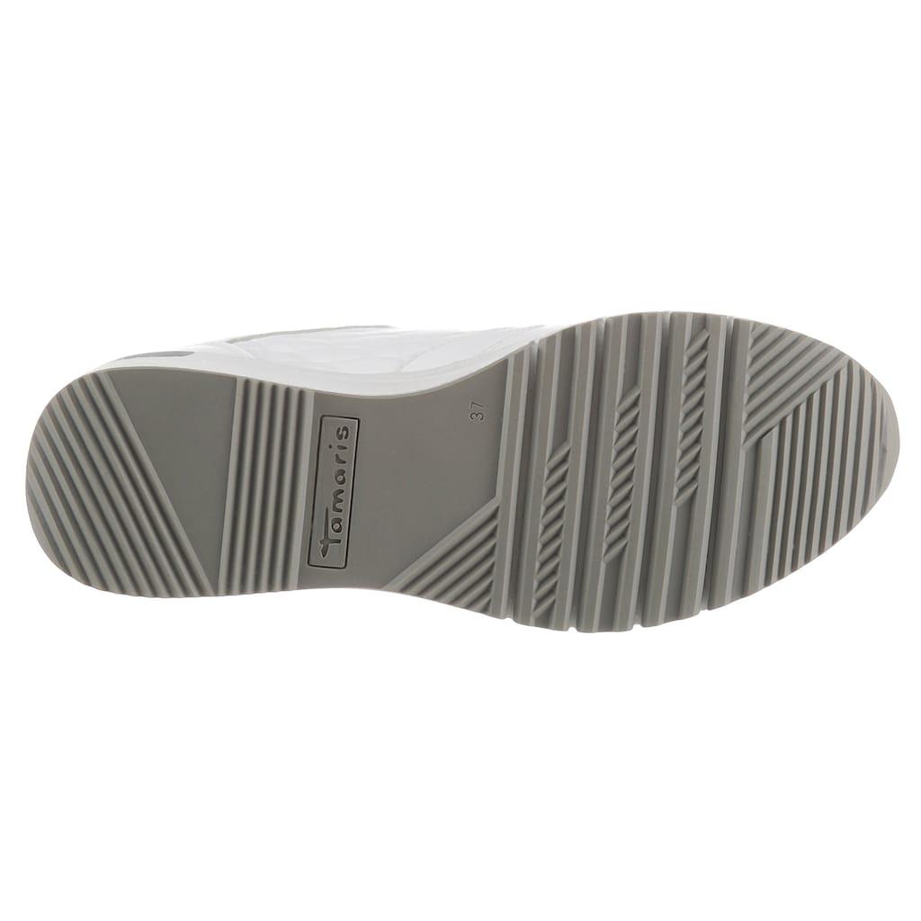 Tamaris Wedgesneaker »Rea«, mit Metallic-Details