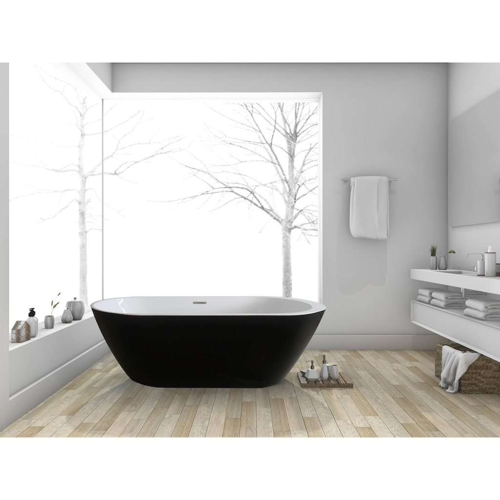 HOME DELUXE Badewanne »Codo black Edition«, B/T: 170 / 80 / 58 cm (B/T/H), freistehend