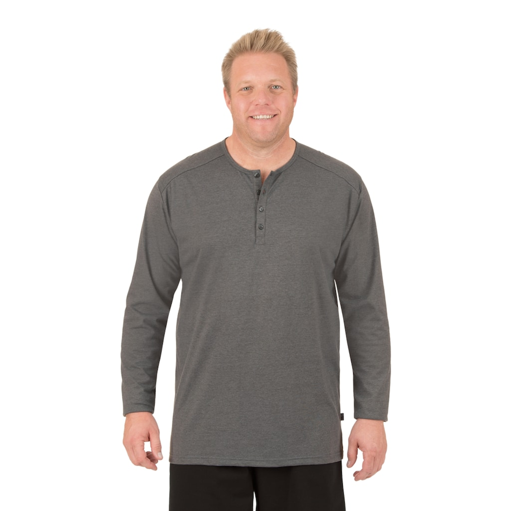 Trigema Langarmshirt, mit Knopfleiste