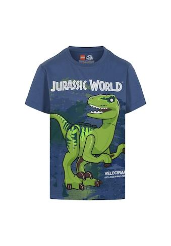 """LEGO® Wear Kurzarmshirt »M-22642«, """"Druck mit dem Velociraptor Dinosaurier Blue"""" kaufen"""