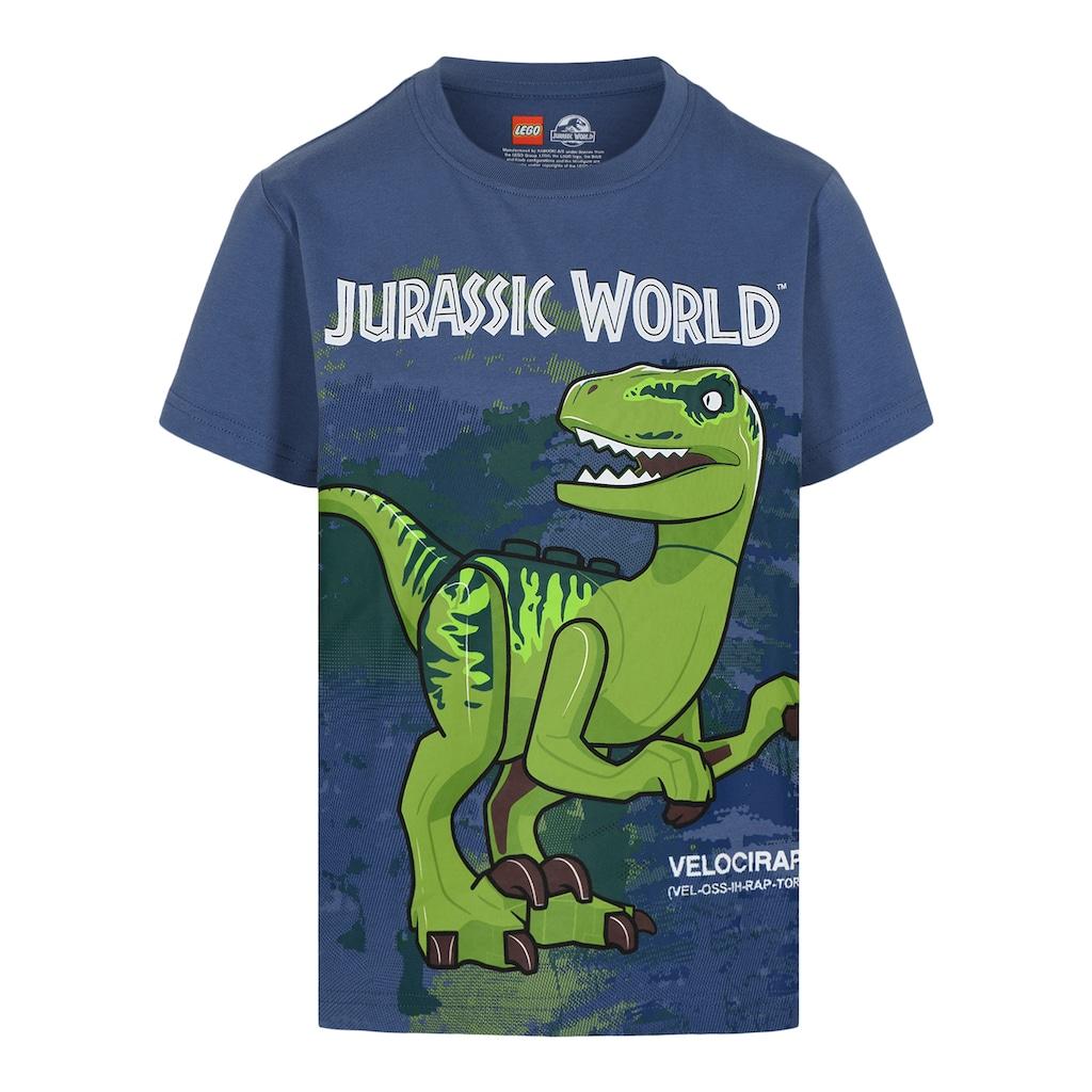 """LEGO® Wear Kurzarmshirt »M-22642«, """"Druck mit dem Velociraptor Dinosaurier Blue"""""""