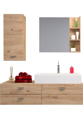 trendteam Badezimmer-Set »Geo«, (4 St.), inklusive Mineralguss-Aufsatzwaschbecken kaufen