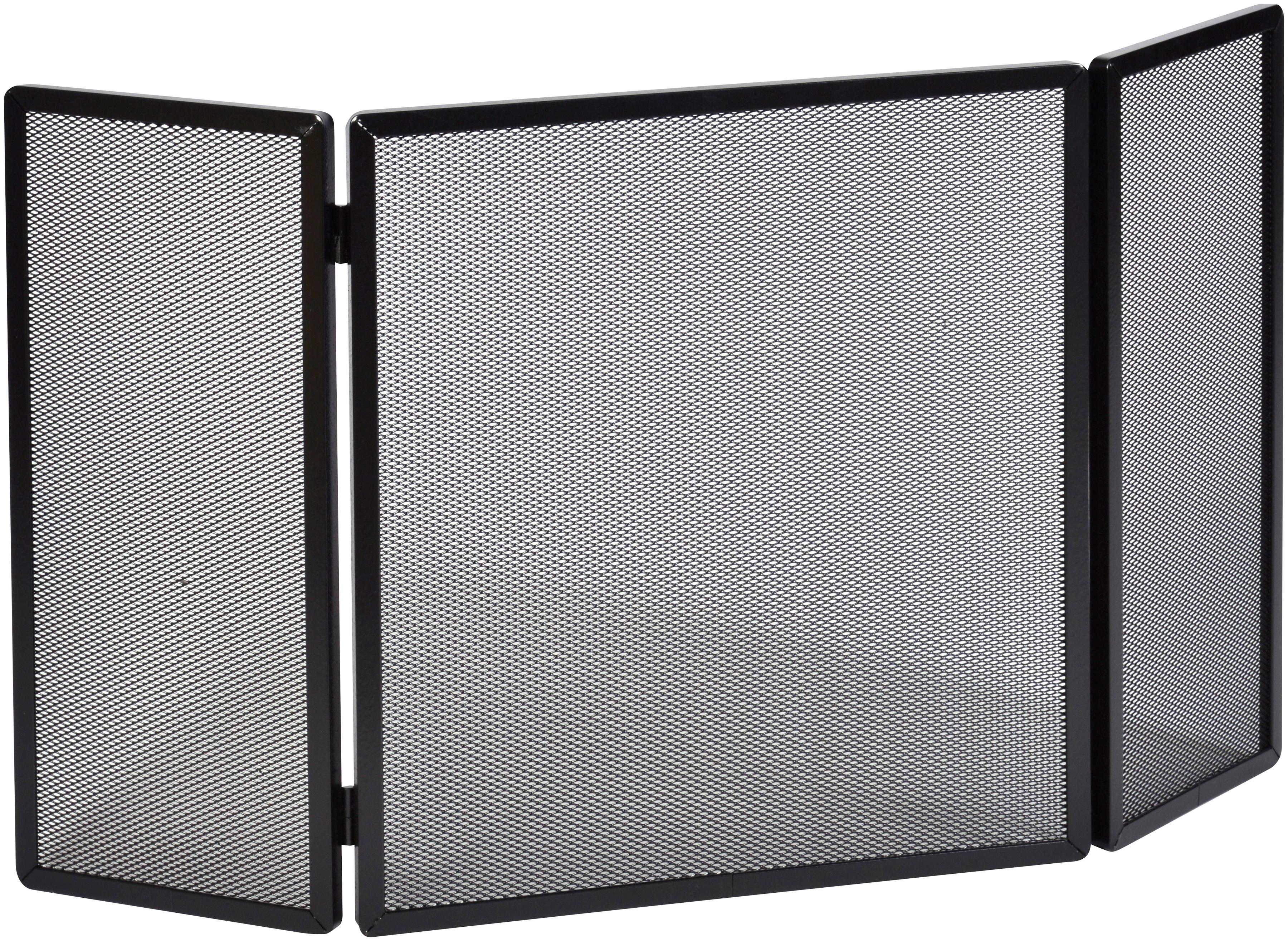 Firefix Funkenschutzgitter, mit Gittergeflecht, 75 x 50 45 cm (BxHxL) schwarz Funkenschutzgitter Kamin Öfenzubehör Heizen Klima